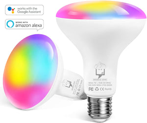 Genie Smart LED Bulb BR30 E27 (Works with Google Home/Alexa) - The Genie Tech