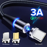 3 in 1 Magnetic Fast Charging and Data Transfer Cable - The Genie Tech
