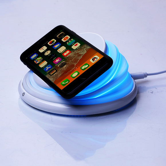 Wireless Charging Dock/Mood Light [Makes a Perfect Night Light] - The Genie Tech