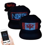 TGT Unique App Controlled LED Hat | Lightup Display Message LED Cap for Christmas, Halloween, Birthday & Campaigns | Customizable Comfortable DIY Message Cap Snapback | Black - The Genie Tech