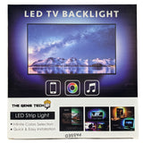 "USB Powered LED Lights for TV Backlight, 65""- 75"" TV, RGB Strip with Remote Control – 5m - The Genie Tech"