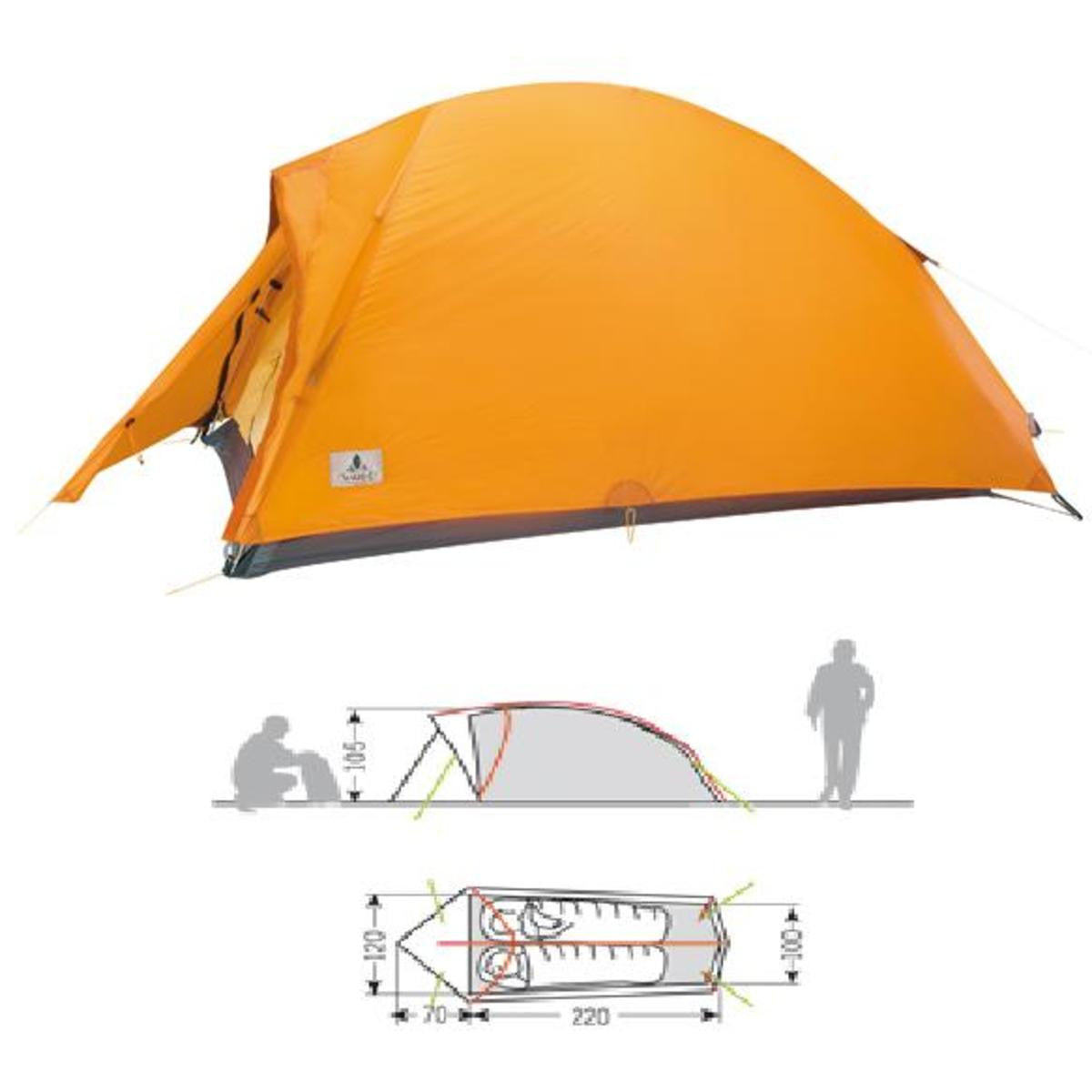 Vaude Hogan Ultralight Tent Orange