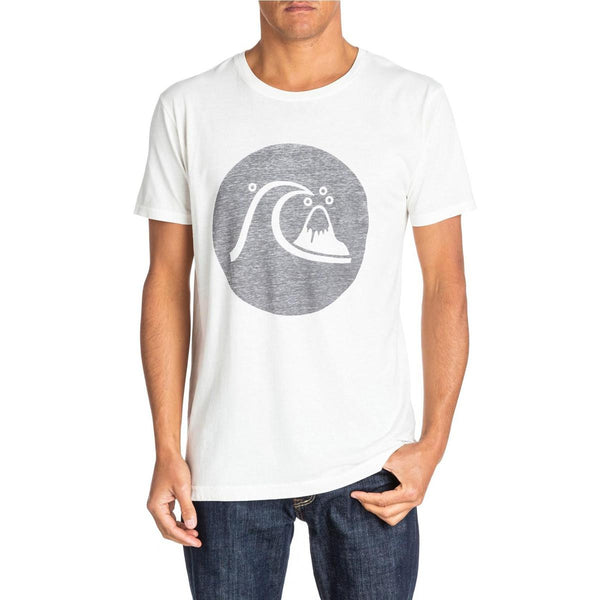 Quiksilver Heritage Circle T Shirt Snow White New