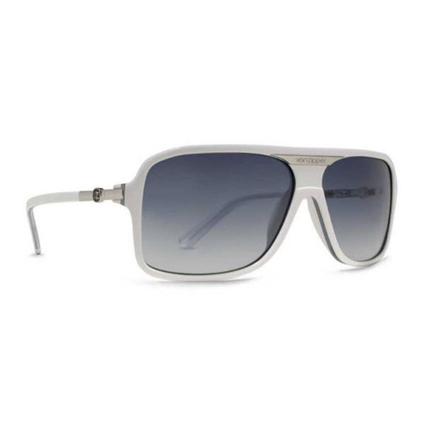 Vonzipper Stache Sunglasses White Black Stripe Grey Clear Gradient