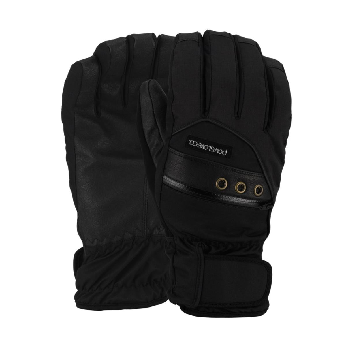Pow Astra Womens Gloves Black Multiple Sizes New Womens