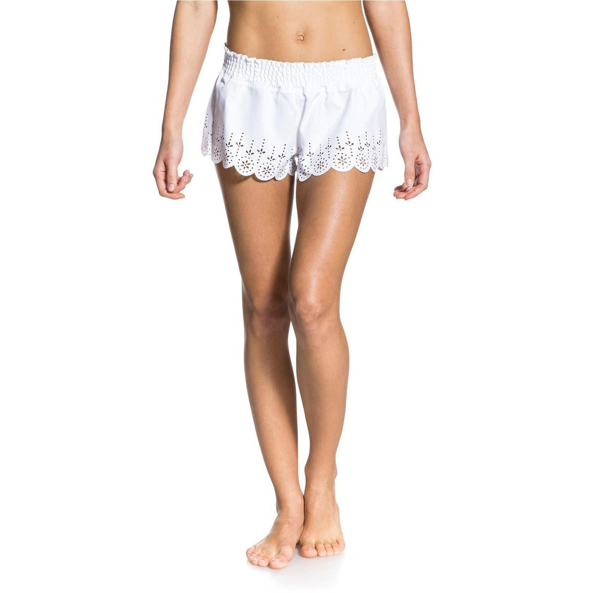 Roxy Love And Happiness Lace Shorts Sea Salt New