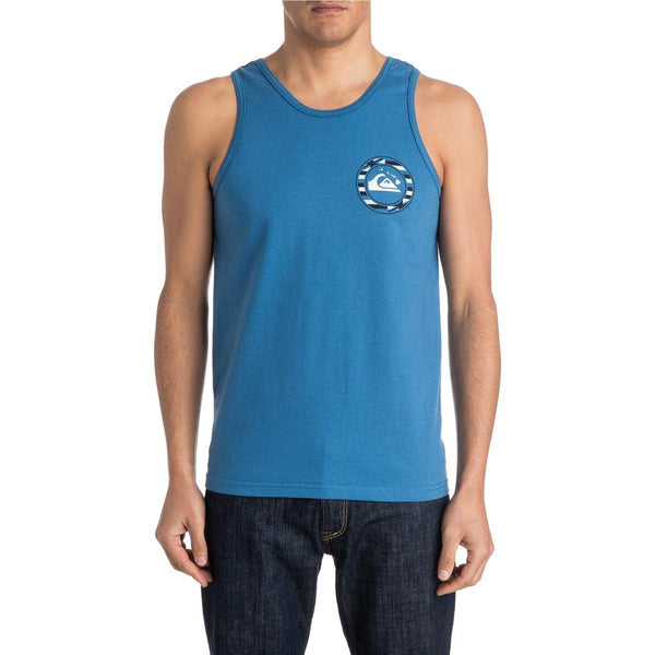 Quiksilver Flagged Tank Mens Federal Blue New