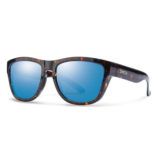 Smith Clark Sunglasses Flecked Blue Tortoise Blue Flash Mirror