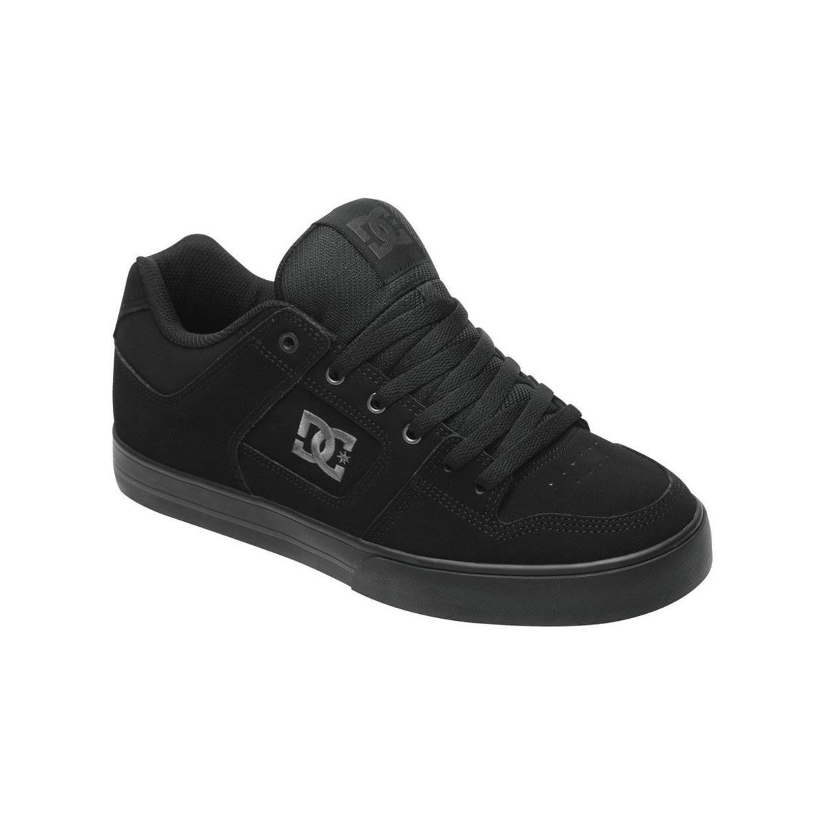DC PURE Shoes Skate MENS Black Pirate Black Dark Grey SIZE 8.5