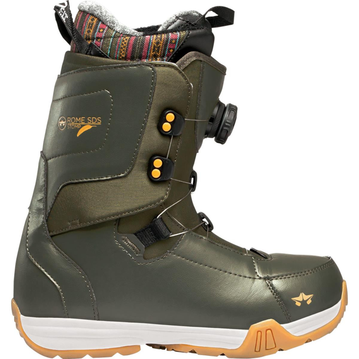 Rome SDS Stomp Snowboard Boots Women's Olive 7 Womens