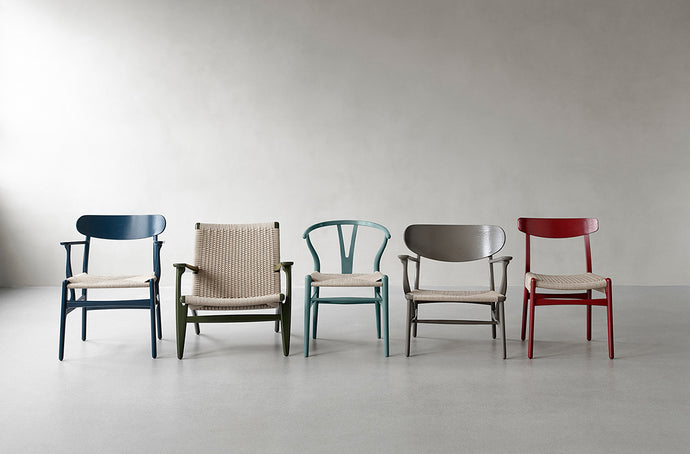 Ilse Crawford Dresses Hans J. Wegner's Earliest Design In New Colours. Carl Hansen and Son's First Masterpieces Reimagined.