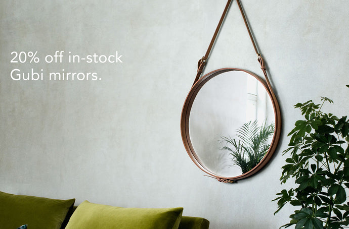 Save 20% on in-stock Gubi Mirrors