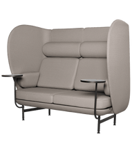 Plenum 2 seater sofa, black powdercoat