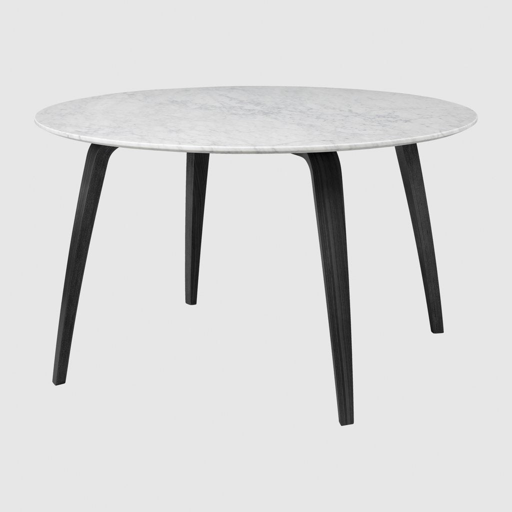 Gubi Dining Table - Round Ø130 Marble