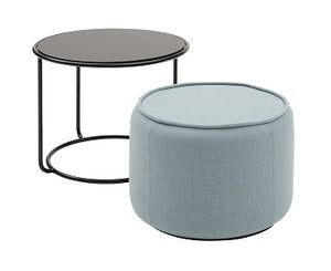 Tom Pouf & Side Table