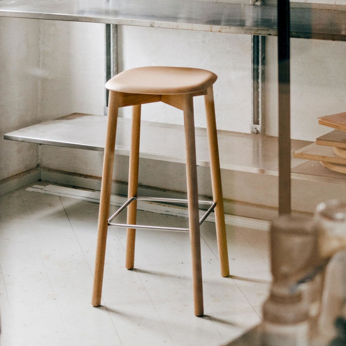 Soft Edge 32 Stool, Oak Seat