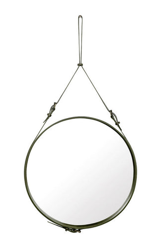 Adnet Leather Mirror by Gubi