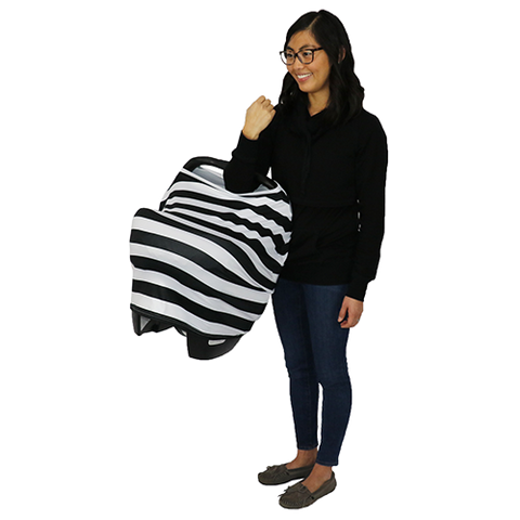Bumblito Car Seat Cover Manhattan black and white stripe