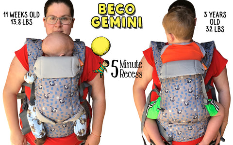 beco baby carrier gemini leaping lemurs comparison