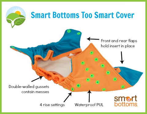 Smart Bottoms Too Smart Cover Diaper Cover Made in the US