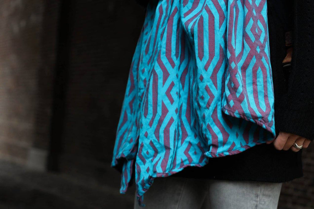 Yaro Macrame Red Blue Wrap (cotton)