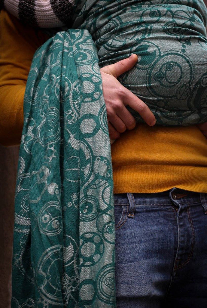 Yaro Quantum Dark Green Natural Ring Sling (hemp blend)