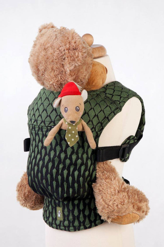 Lenny Lamb Doll Carrier Icicles Black and Green