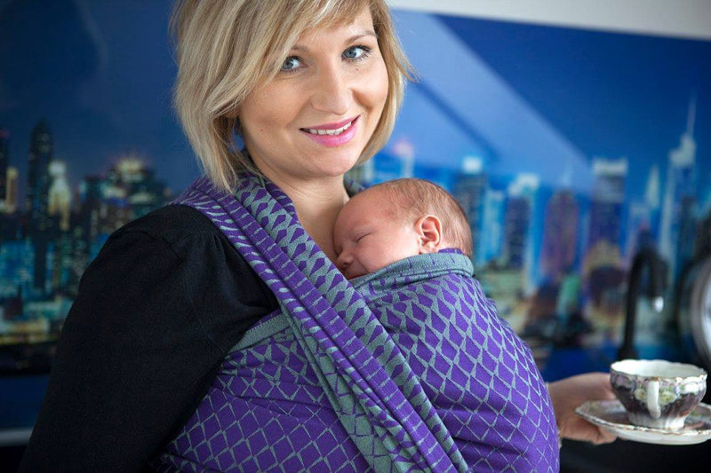 Lenny Lamb Icicles Purple and Green Wrap (cotton)