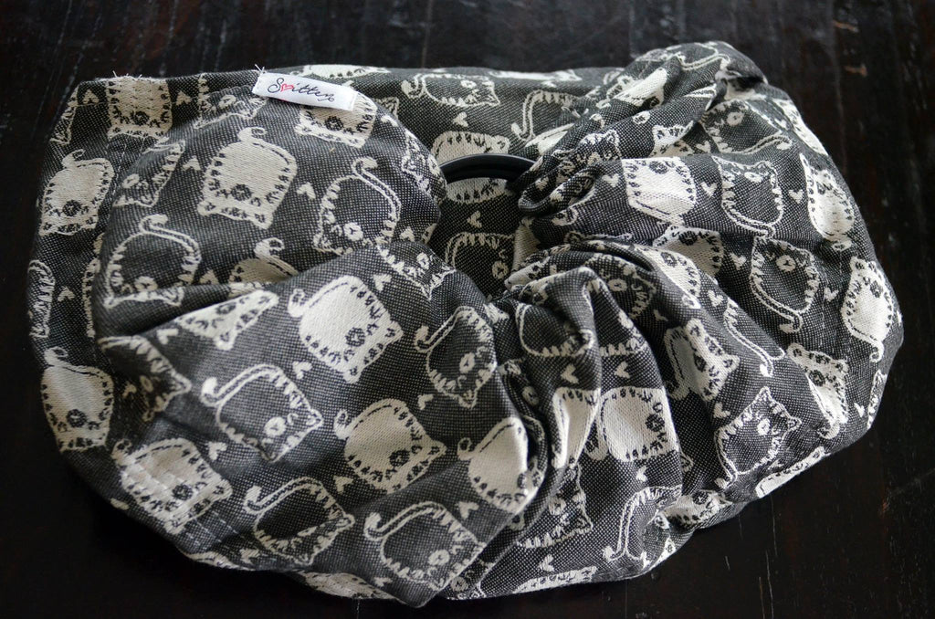 Smitten Fatty Catty Kahlua Ring Sling cotton