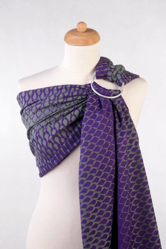 Lenny Lamb Icicles Green and Purple (cotton) Ring Sling
