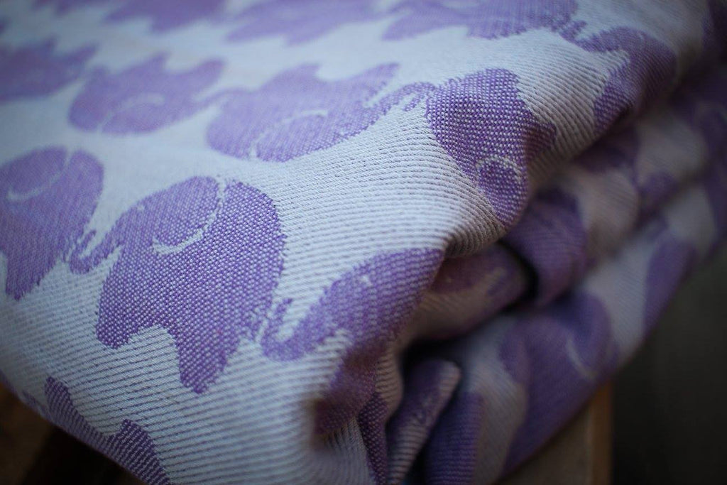 Yaro Elephants Silver Purple Ring Sling (cotton)