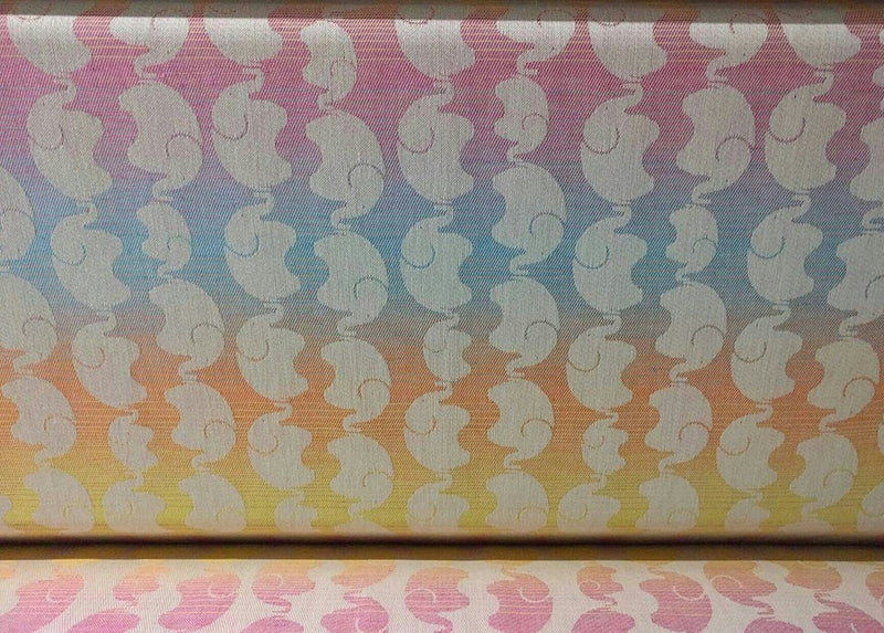 Yaro Elephants Spring Rainbow Wrap (linen blend)