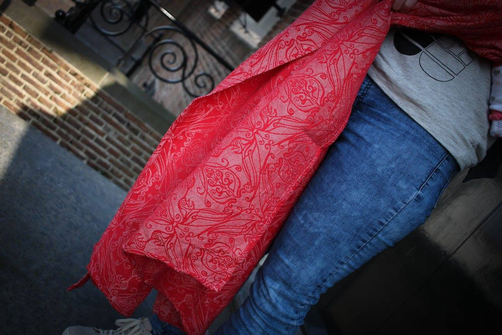 Yaro Elvish Red Ring Sling (hemp blend)