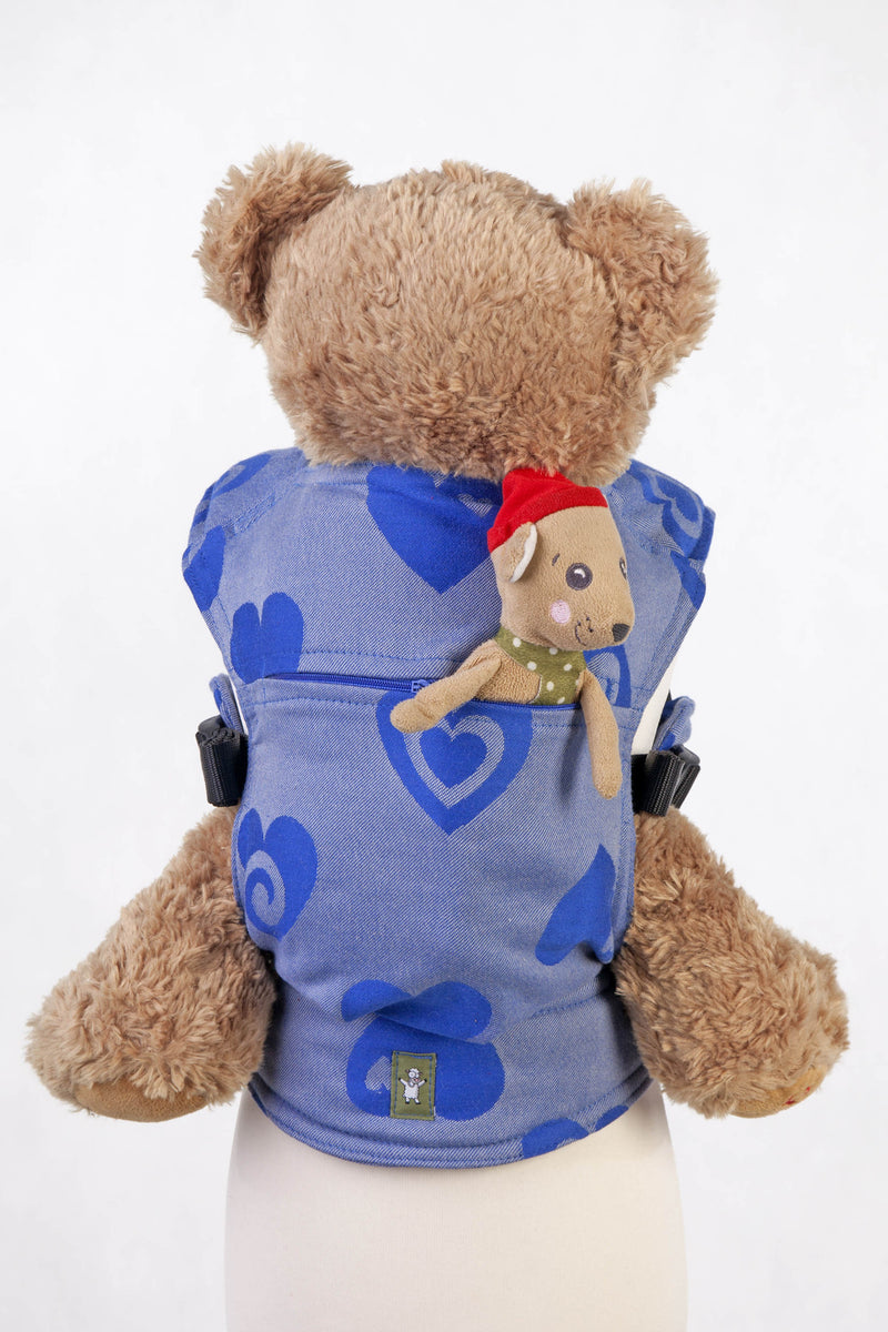 Lenny Lamb Sweetheart Blue and Gray REVERSE Doll Carrier