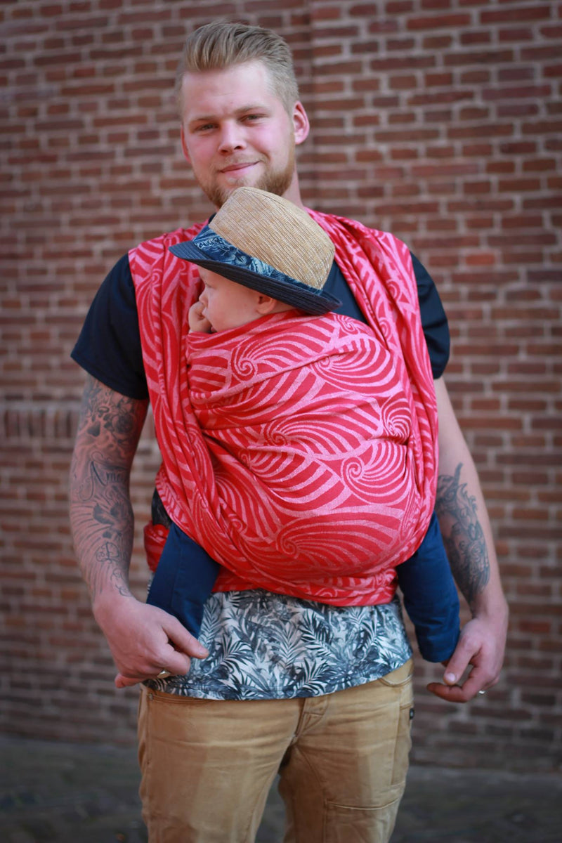 Yaro Dandy Red White Wrap (hemp blend)