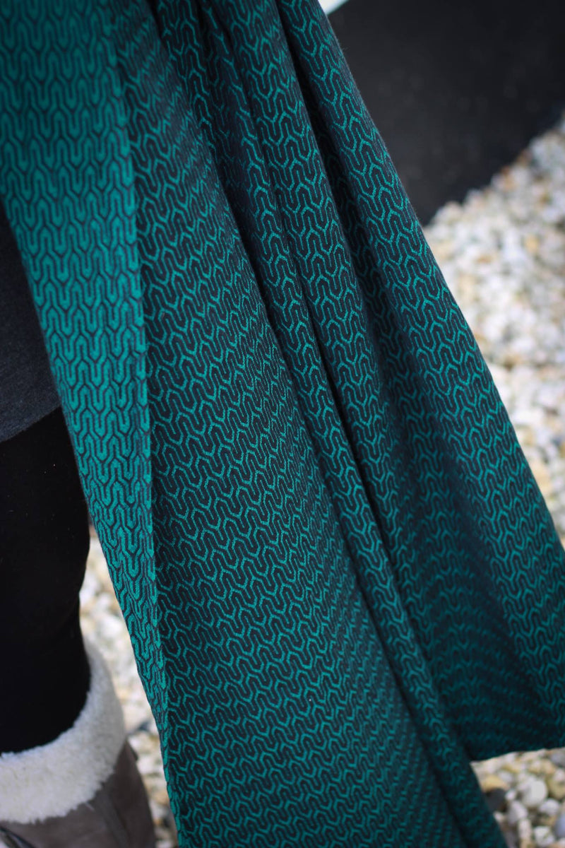 Yaro Turtle Emerald Black Wrap (cotton)