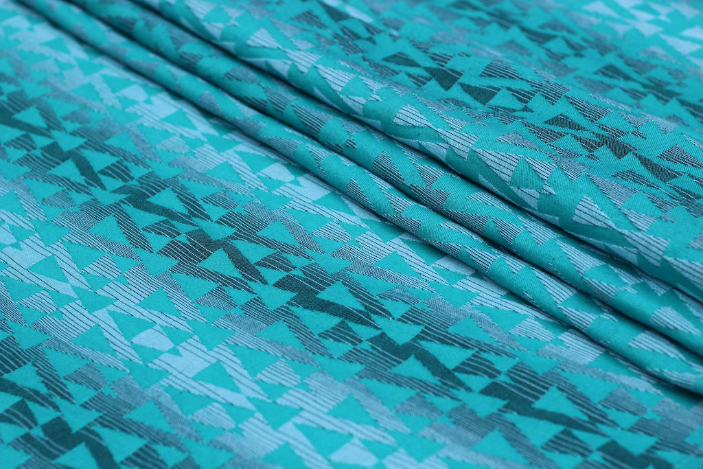 Yaro Delta Aqua-Green Black-White Wrap (cotton)