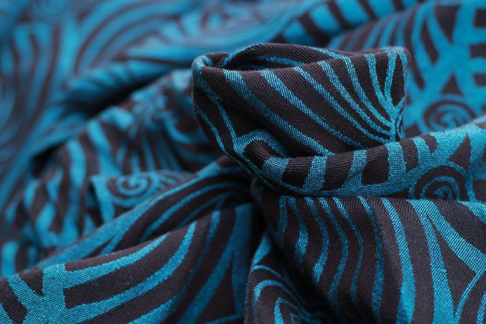 Yaro Dandy Black Blue Soft Hemp Wrap (hemp blend)