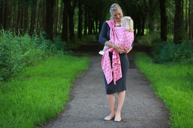 Yaro Atomium Rose Red Babywearing Wrap (hemp blend)