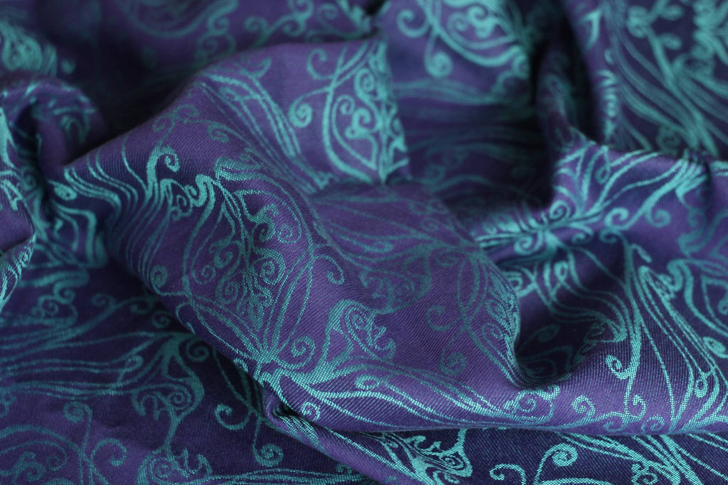 Yaro Elvish Violet Aqua-Green Ring Sling (tencel blend)