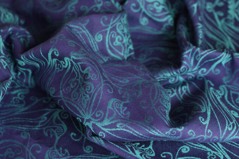 Yaro Elvish Violet Aqua-Green Wrap (tencel blend)