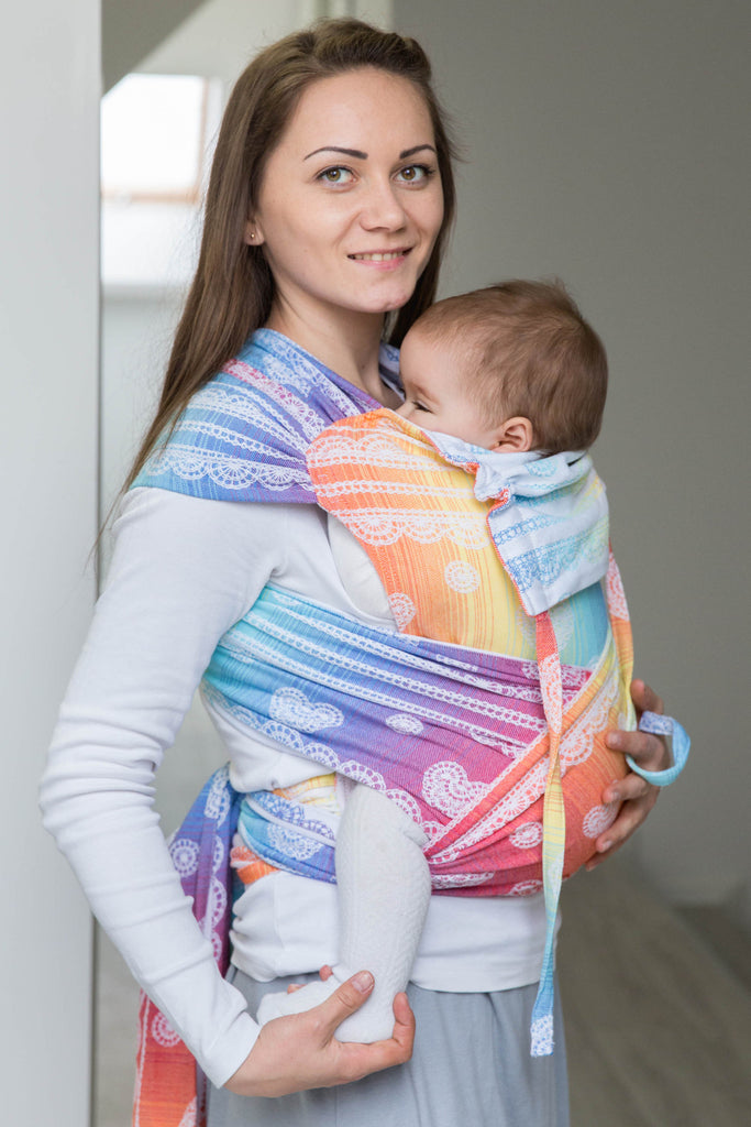 Lenny Lamb Rainbow Lace Wrap Tai (cotton)