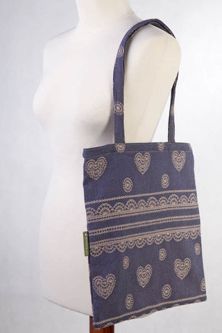 Lenny Lamb Blueberry LACE Shopping bag