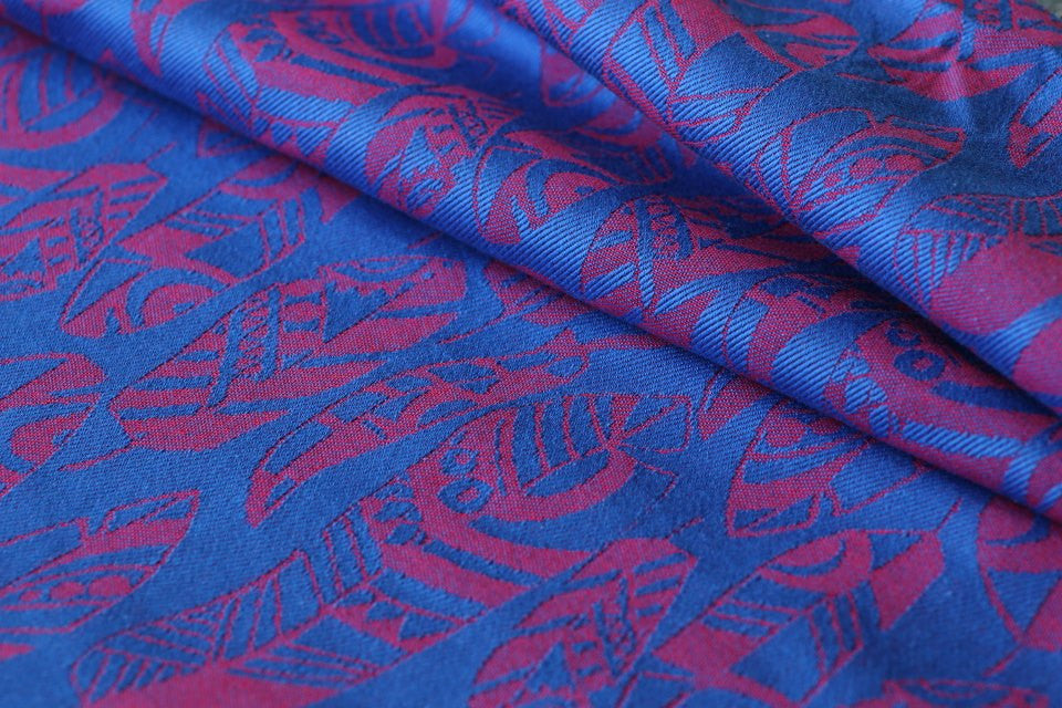 Yaro Four winds Red Blue Wrap (cotton)