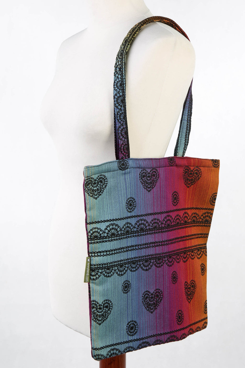 Lenny Lamb Shopping bag RAINBOW LACE DARK