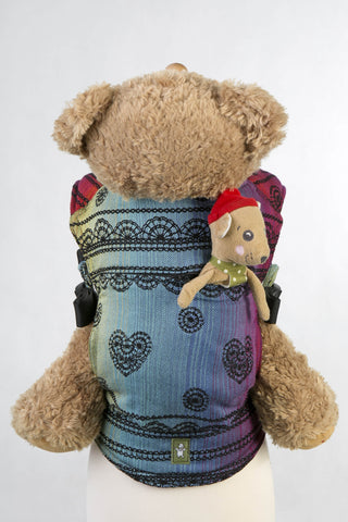 Lenny Lamb Doll Carrier Rainbow Lace Dark