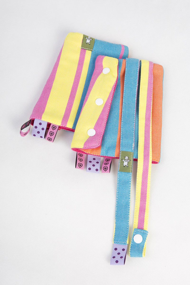Lenny Lamb Pinacolada Drool Pads and Reach Straps Set