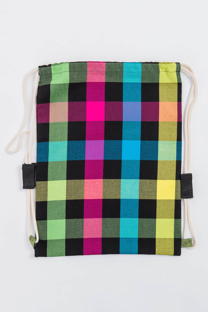 Lenny Lamb Diamond Plaid Sackpack