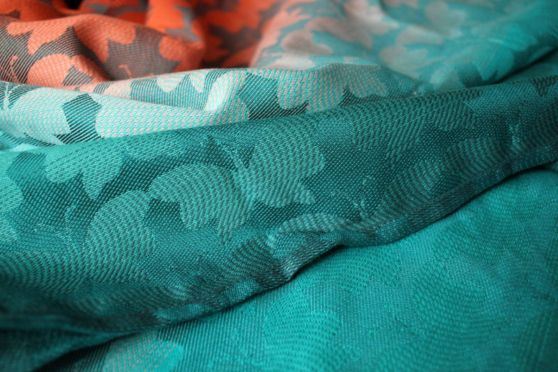 Yaro Butterflies Arctic Sunset Grad Teal Tencel Wrap