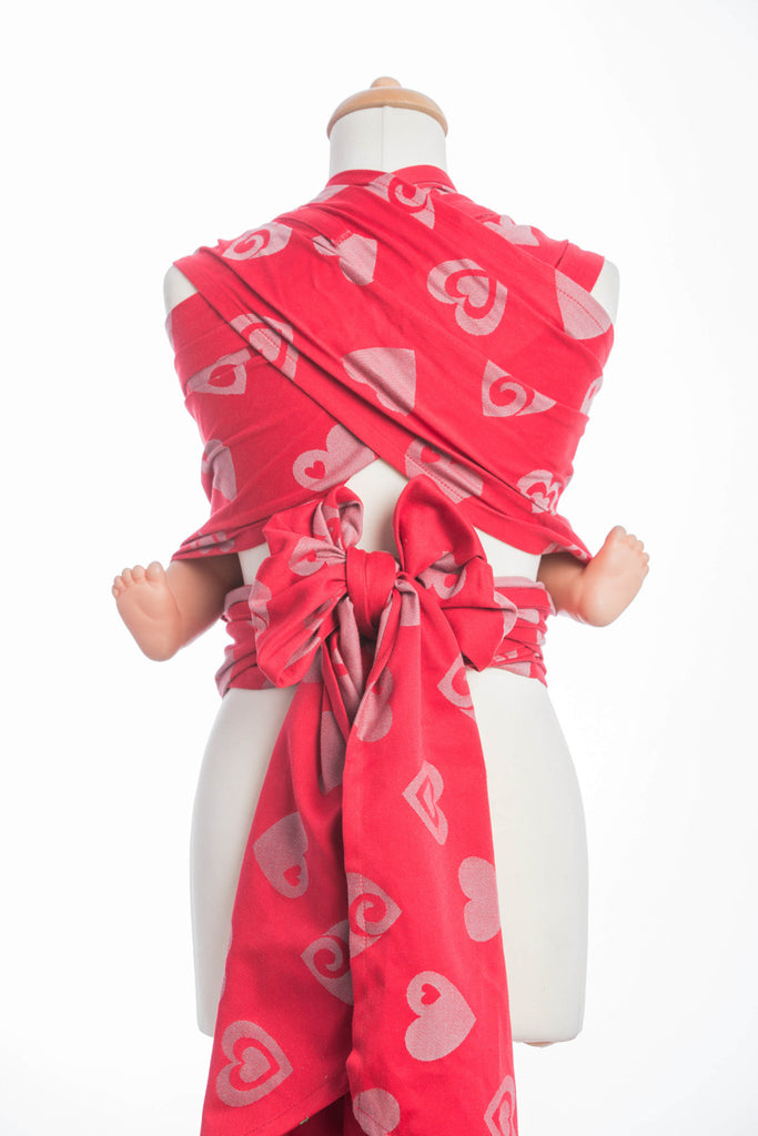 Lenny Lamb Sweetheart Red and Gray Wrap Tai (cotton)